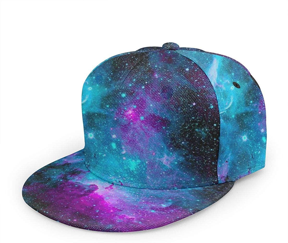 BWBFVPW Adjustable Snapback Hat Unisex Hip Hop Flat Brim Baseball Cap Galaxy