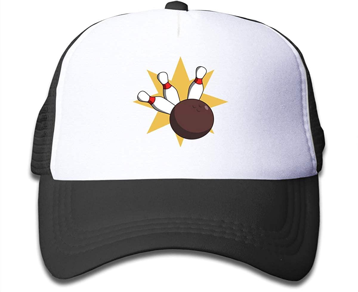 Snapback Hats Bowling Ball Collision Kid's Mesh Baseball Cap Adjustable