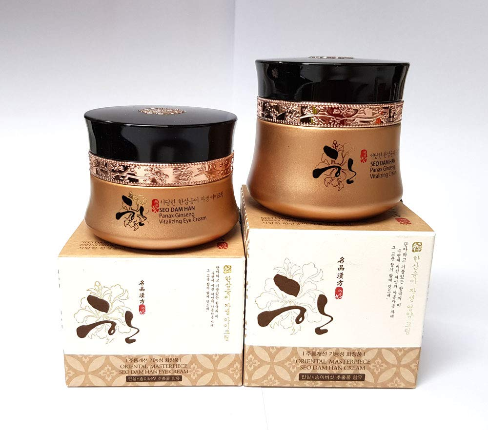 [3W CLINIC] Seo Dam Han Panax Ginseng Vitalizing Cream 55g + Eye Cream 35g / Korea Cosmetics