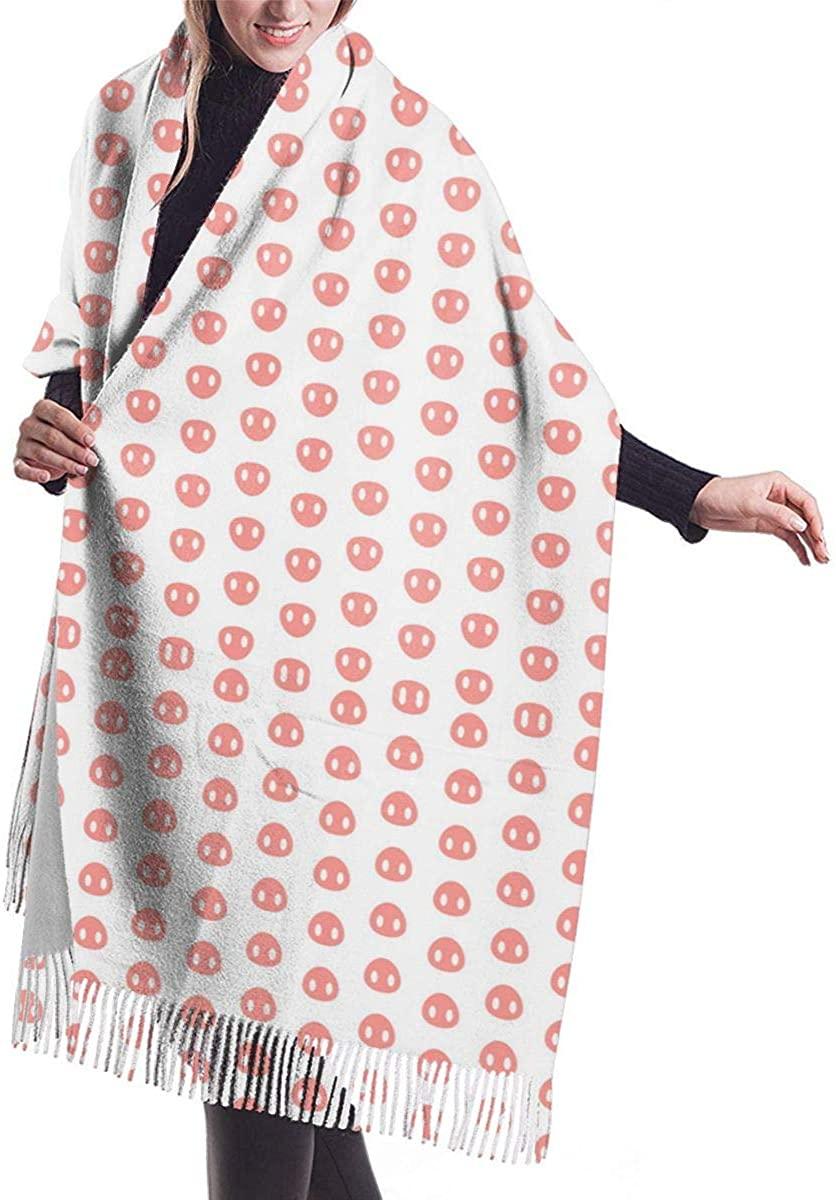 Pig Nose Pattern. Winter Scarf Cashmere Scarves Stylish Shawl Wraps Blanket