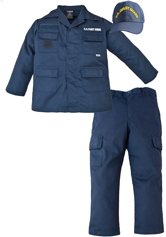 Kids US Coast Guard 3 Pc Blue USCG Work Uniform (Small 6-8)