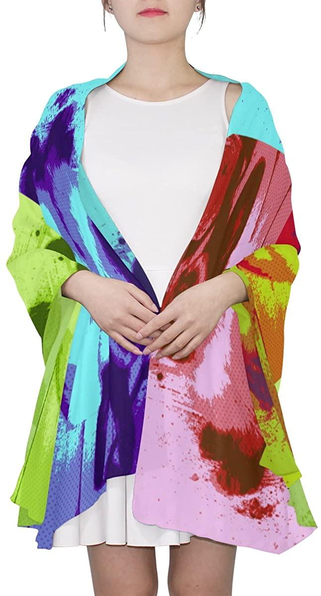 Ethel Ernest Womens Silk Scarf Abstract Bunny Lightweight Shawl Soft Long Scarves