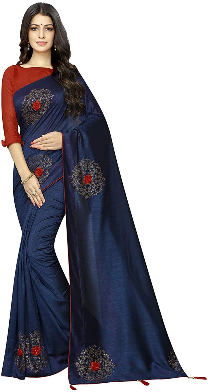 Indian Saree for Women Ethnic Sari Nevi Vichitra Two- Ton Silk Sari with Unstitched Blouse. ICW2689-3