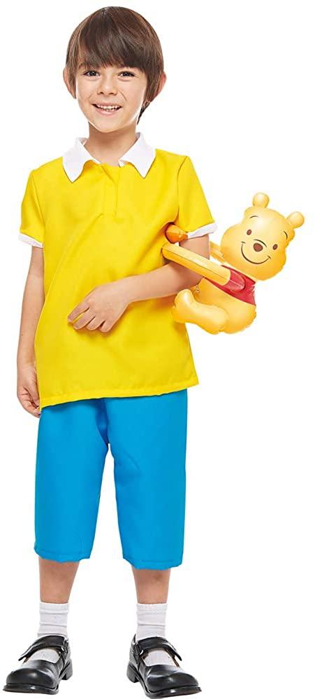 Disney Winnie The Pooh Series Christopher Robin Child Costume (Medium) Yellow