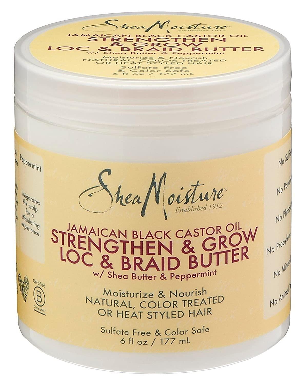 Shea Moisture Jamaican Black Loc & Braid Butter 6 Ounce Jar (177ml) (3 Pack)