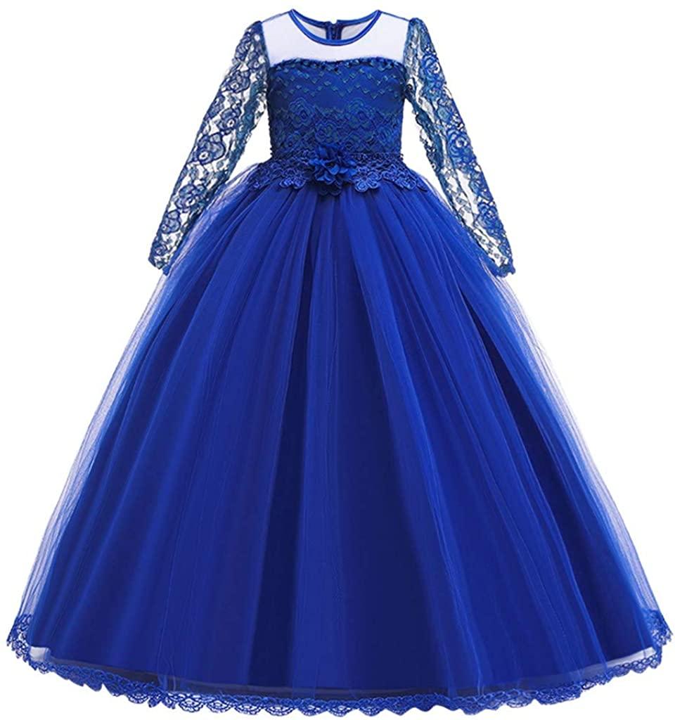 CakeLY Kids Girls Long Irregular Black Gauze Princess Pageant Gown Party Evening Dress Sequin Dress