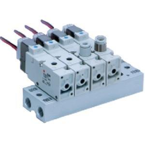 SMC VV3QZ32-04C-00T valve - vv3qz manifold vqz 3-port family vv3qz no size rating - mfld, body ported, vqz300
