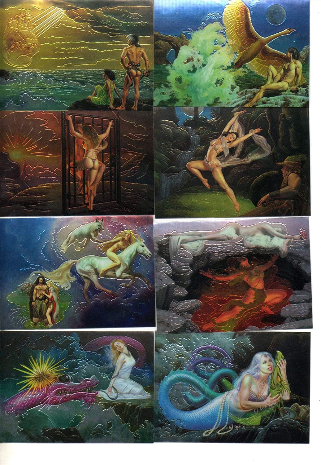 The Best of Rowena Complete 90 All Chromium Fantasy Art Trading Card Set FPG 1996