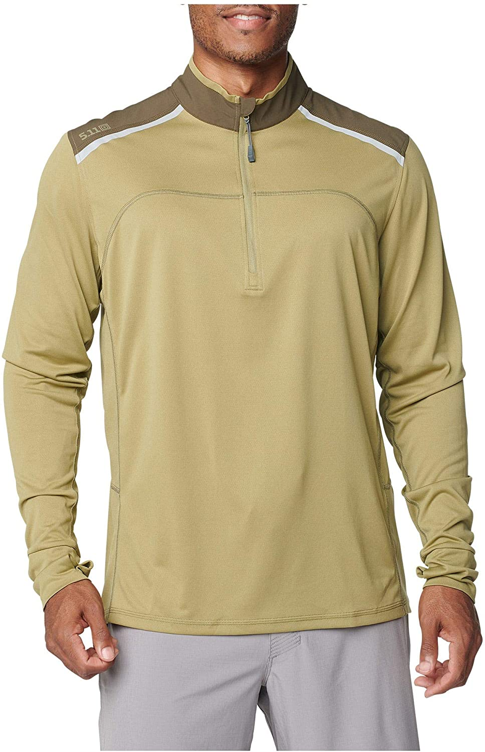 5.11 Tactical Men's Max Effort 1/4 Zip Pullover Jacket, Wicking and Anti-Odor Finish, Style 82114