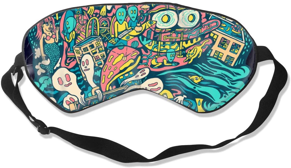 WushXiao Luanelson Phish Fashion Personalized Sleep Eye Mask Soft Comfortable with Adjustable Head Strap Light Blocking Eye Cover