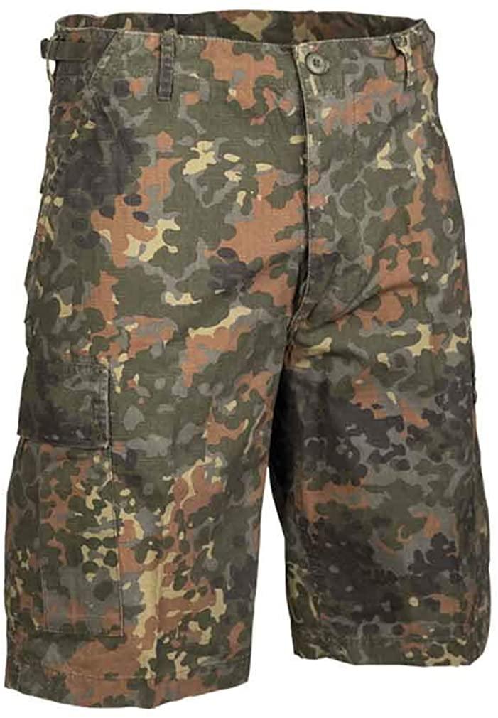 Mil-Tec Men's Prewashed Ripstop Bermuda Shorts Flecktarn