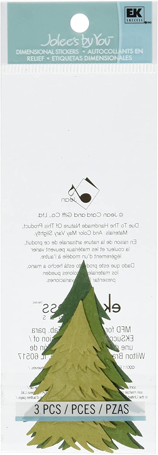 Jolee's By You Dimensional Sticker, Pine Tree Green