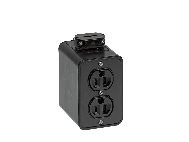 Woodhead 3000-1BLK Super-Safeway Outlet Box, Standard Depth Cord Clamp, NEMA 5-15 Configuration