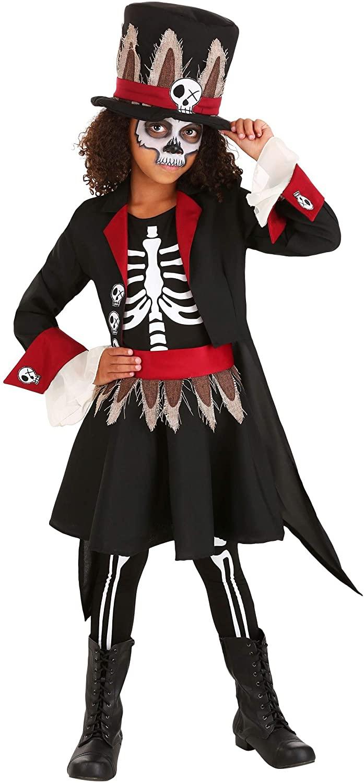 Girl's Voodoo Skeleton Costume
