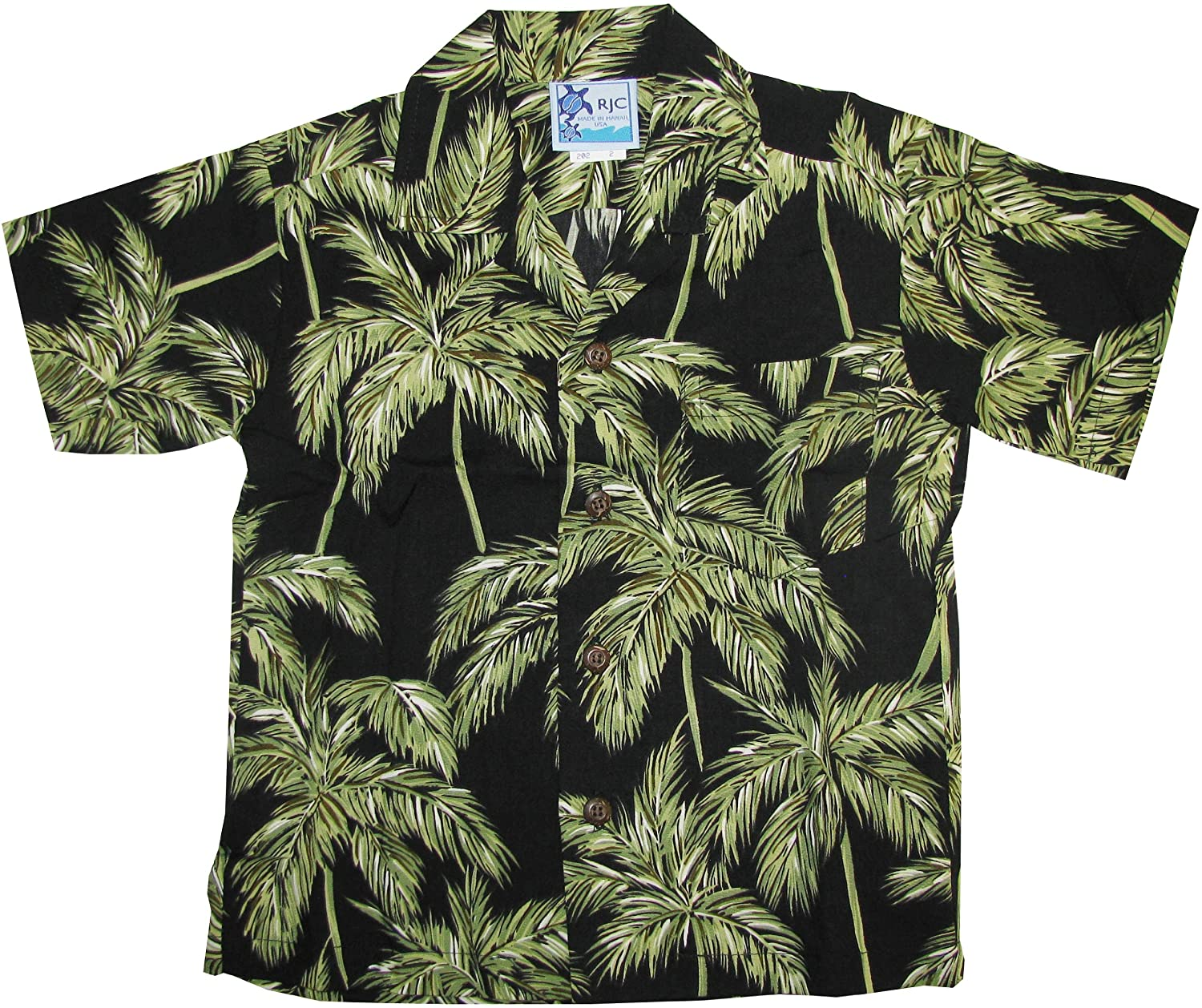 RJC Boys Palm Trees Rayon Shirt