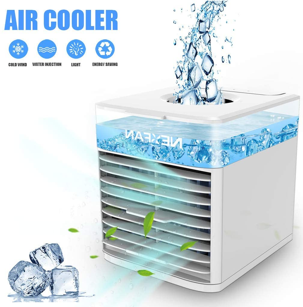 Becoler Air Cooler Air Conditioner with 3 Speeds, Mini USB Air Conditioner Fan, Purifier, Humidifier for Home, Office, Desktop Cooling Fan
