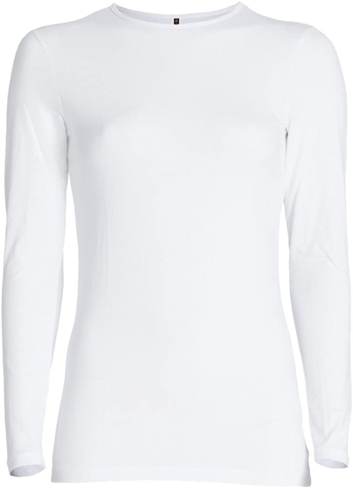 ESTEEZ Long Sleeve Fitted Top for Women Cotton Lycra Base Layering Shell