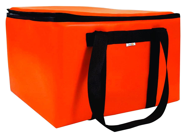 sevenOKs Dome Karrier-M-Orange Catering Bag, Holds 16