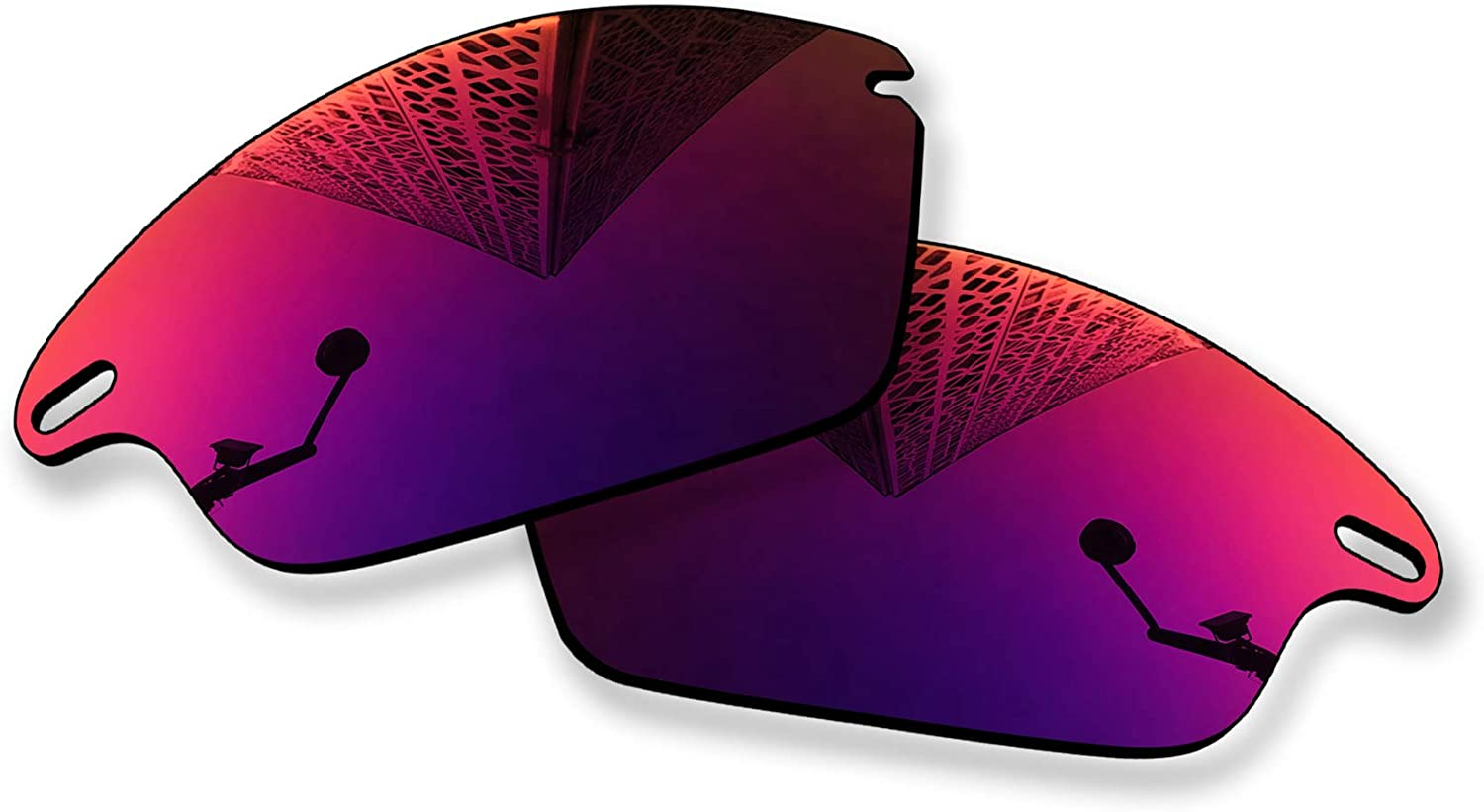 MYCOURAG Replacement Lenses Compatible with Oakley Fast Jacket XL OO9156 Sunglass