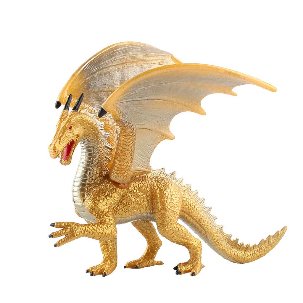 Jinjin Children Simulation Solid Dinosaur Demon Dragon Model Ice Dragons Toy Figure Ideal Gift Or Party Favor for A Dinosaur Themed Birthday Party