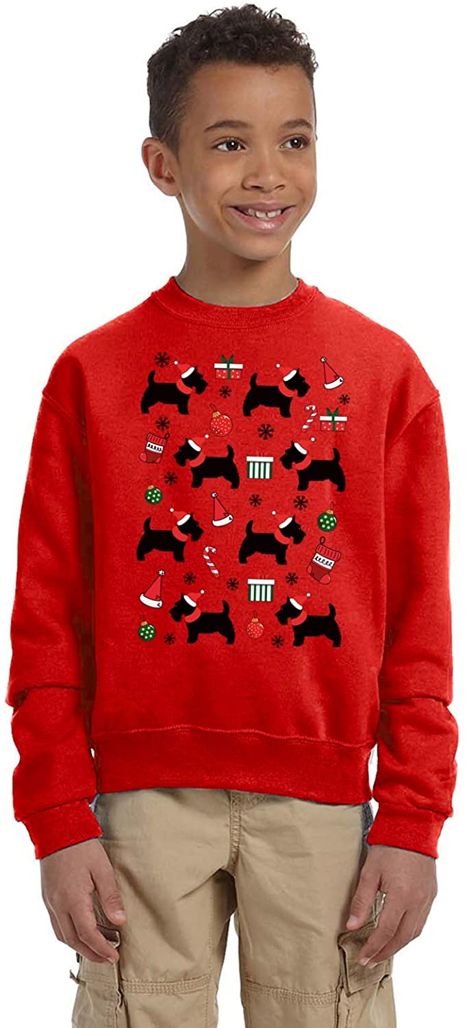 Pekatees Ugly Christmas New Year Sweater for Boys Girls Kids Youth Dogs Xmas Pattern Sweatshirt