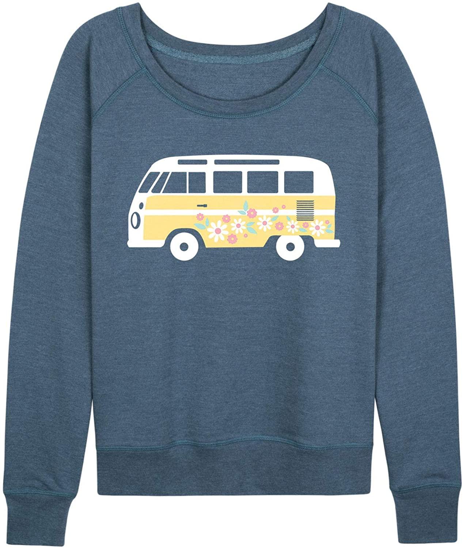 Yellow Van with Flowers - Ladies Plus Slouchy