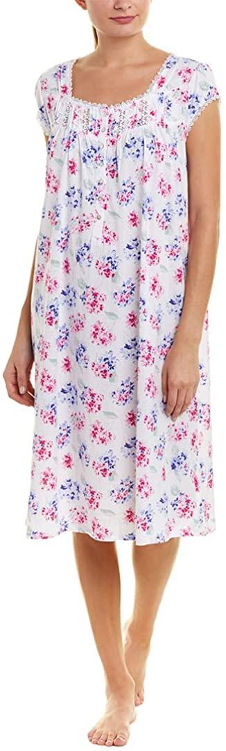Eileen West Women's Plus Size Hydrangea Waltz Nightgown