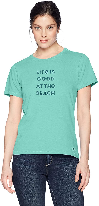 Life is Good Womens Ocean Beach Sun Graphic T-Shirt Crusher Collection