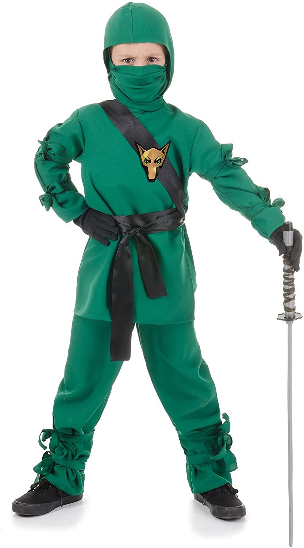 UNDERWRAPS Costumes Children's Green Ninja Costume, X-Large 14-16 Childrens Costume