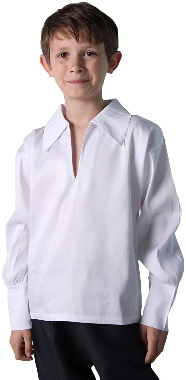 Making Believe Boys Basic Renaissance Shirt, White (Boys X-Large 14, White)