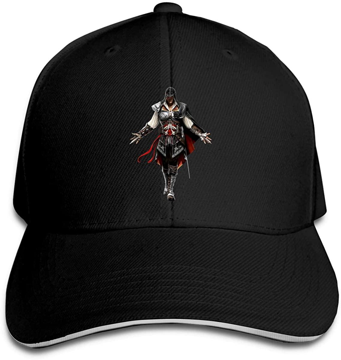 Assassins Creed Ezio 2 Men Womens Baseball Cap Washed Cotton Adjustable Hat