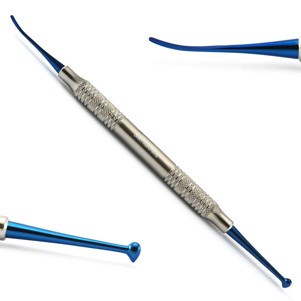 Dental Beavertail Ball Burnisher Football Tooth Restoration Shaping Smoothing Polishing Amalgam Filling Composite Condensing Contour Blue Titanium