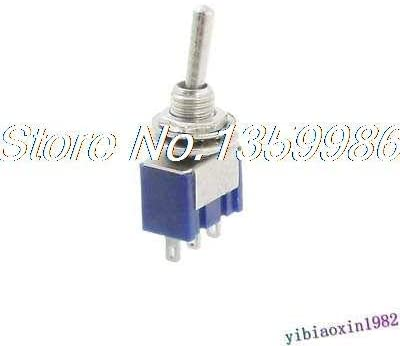 Screw 50 Pcs AC 125V 6A Amps ON/ON 2 Position 3 Terminals SPDT Toggle Switch