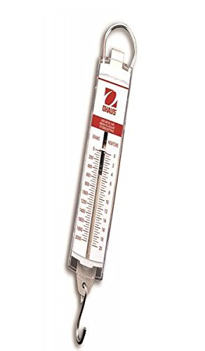 Ohaus 8001-MA Pull-Type Hanging Spring Scales, 50g x 10g, 9 oz x 1/4 oz