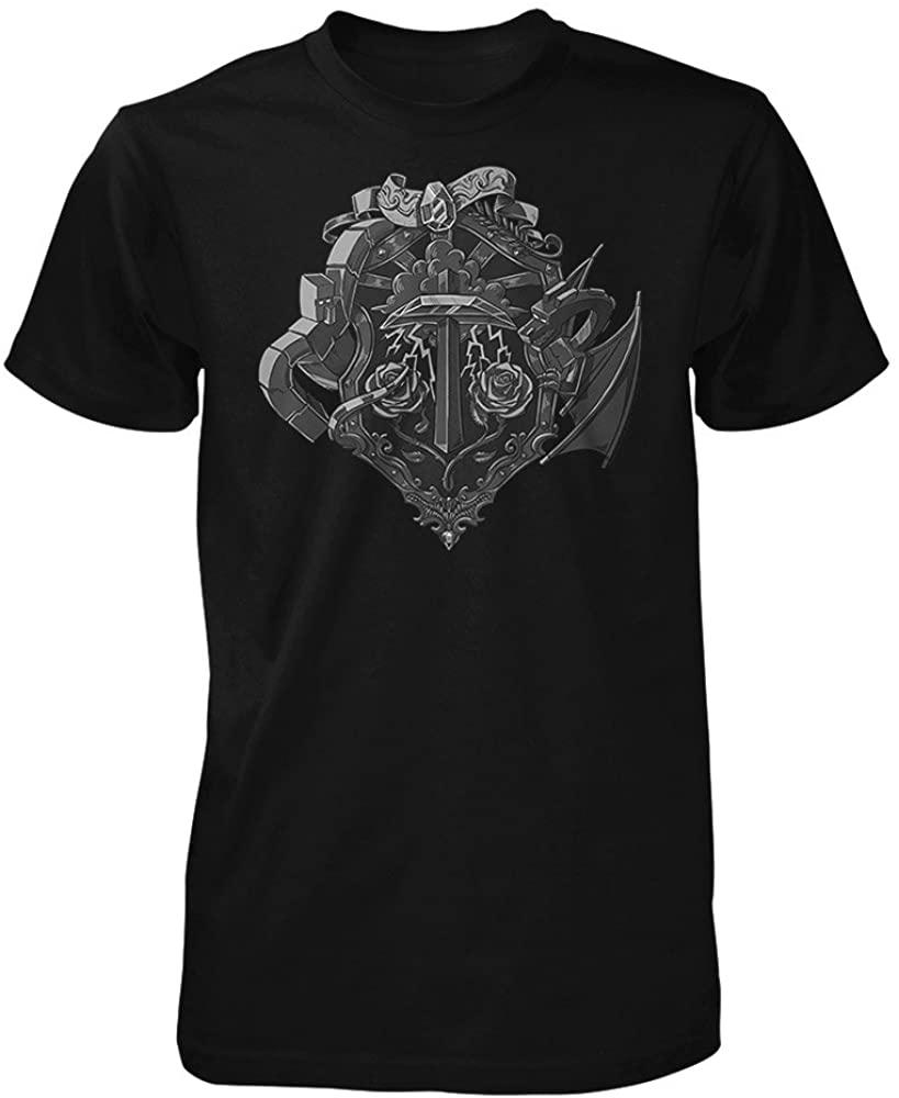 Minecraft Big Boys' Heroes Crest Youth T-Shirt XS Black