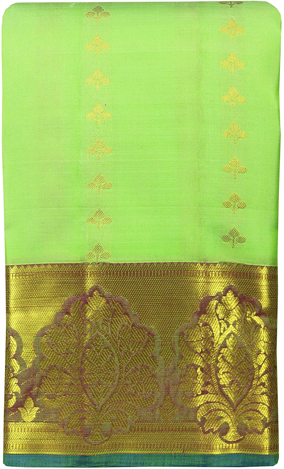SARAVANABAVA SILKS Women's Kanchipuram Pure Pattu or Silk Sarees Tradition Jari Border Body Butta (SRBS00P492)