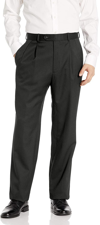Palm Beach Men's Stan Double Reverse Pleat Dress Pant