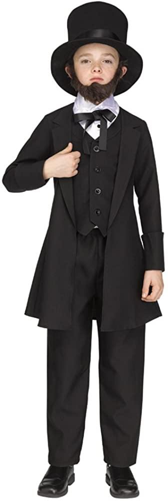 Boys Abe Lincoln American President Costume