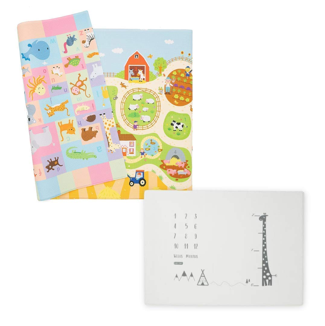 Baby Care Play Mat - Playful Collection & Milestone Mat - Growing Up with Giraffe
