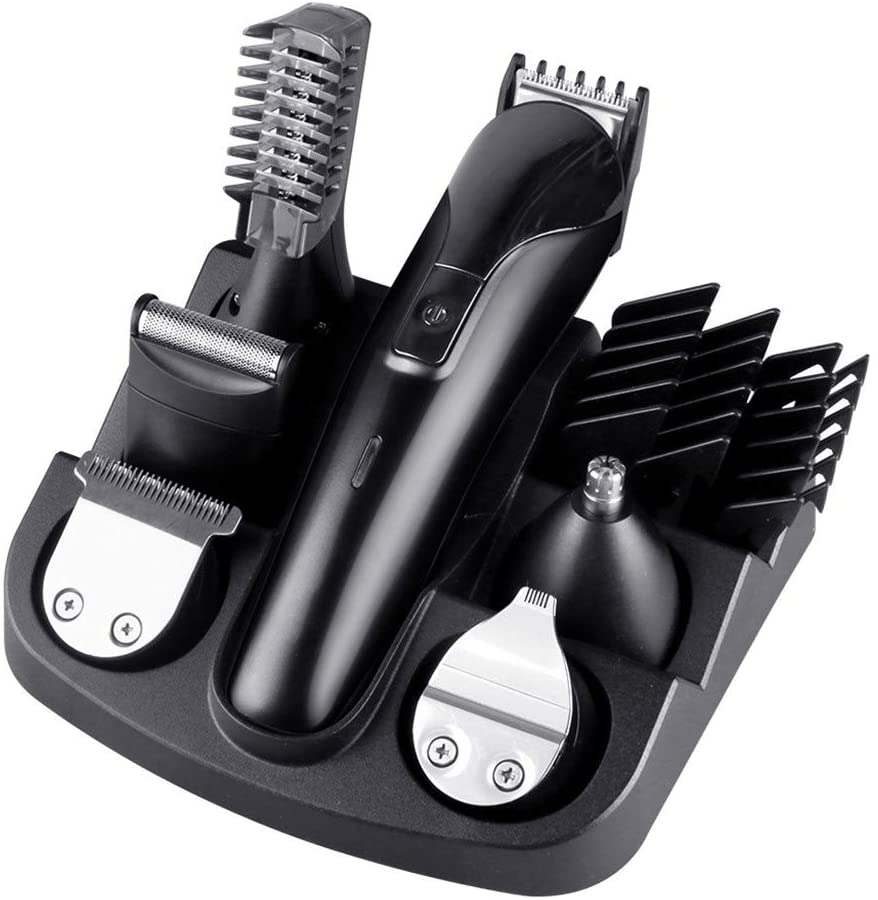 6-in-1 Electric Hair Clippers Household Adult Children Haircut Power Haircut Set (A)