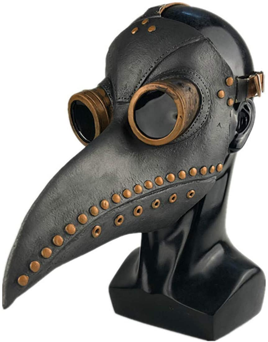 CosTribe Steampunk Mask Long Nose Bird Beak Props for Halloween Costume (Style-3)