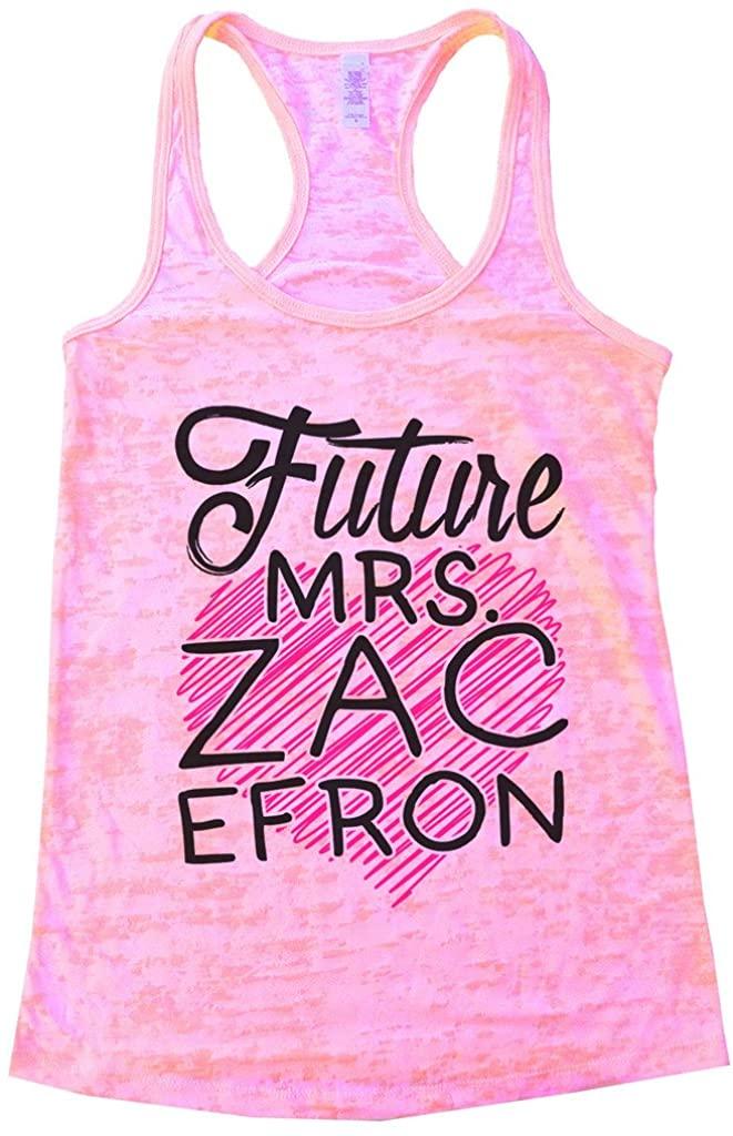 "Funny Threadz Women'sLoverTank Top ""Future Mrs Zac Efron"" Singer and ActorShirt"
