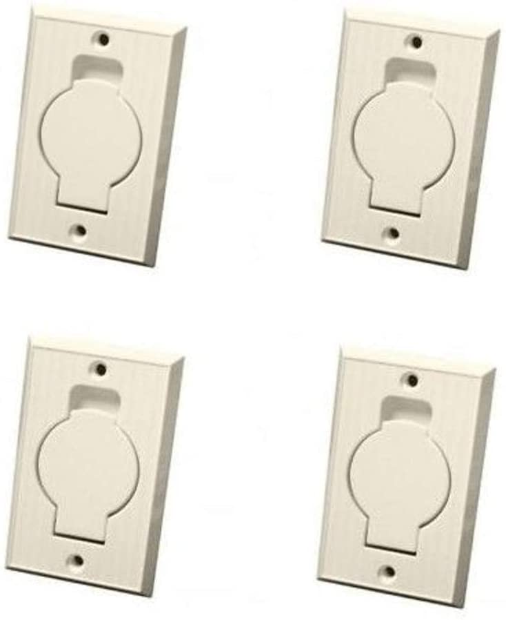 EFP Central Vacuum Wall Hose Inlet Almond Beige for Beam (4-Pack)