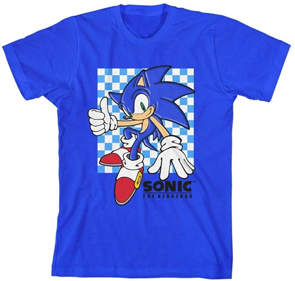 Sonic The Hedgehog Profile Photo Big Boys Youth T-Shirt Licensed Sega