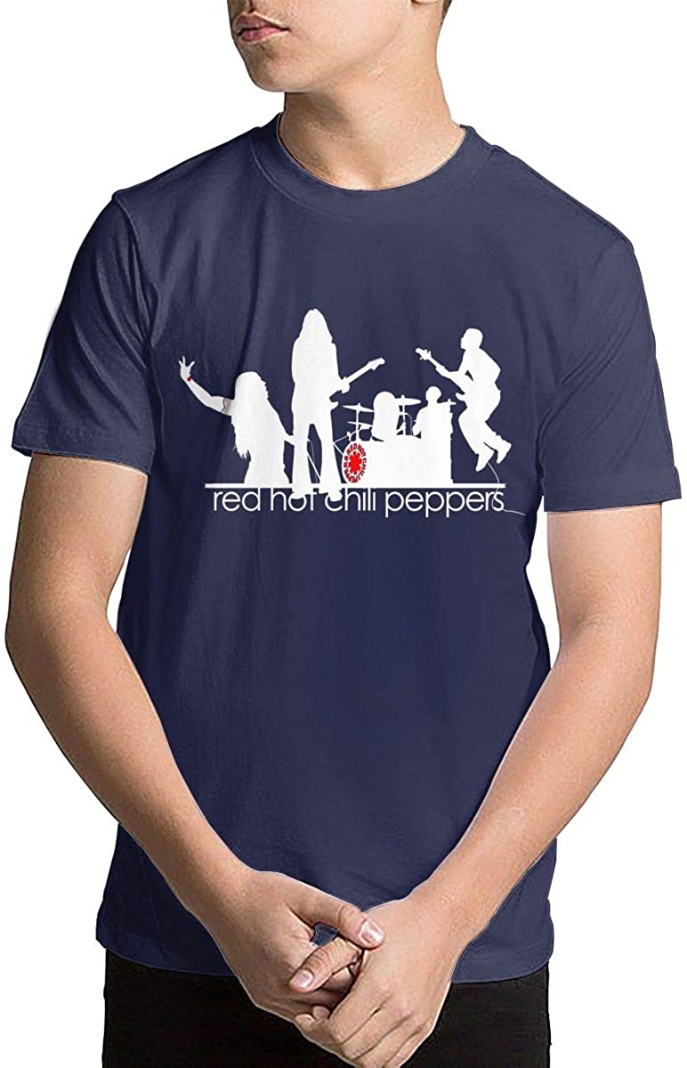 Youth Red Hot Chili Peppers Teenage Boys Teens Custom T-Shirt, Fashion Shirt for Boys and Girls Navy