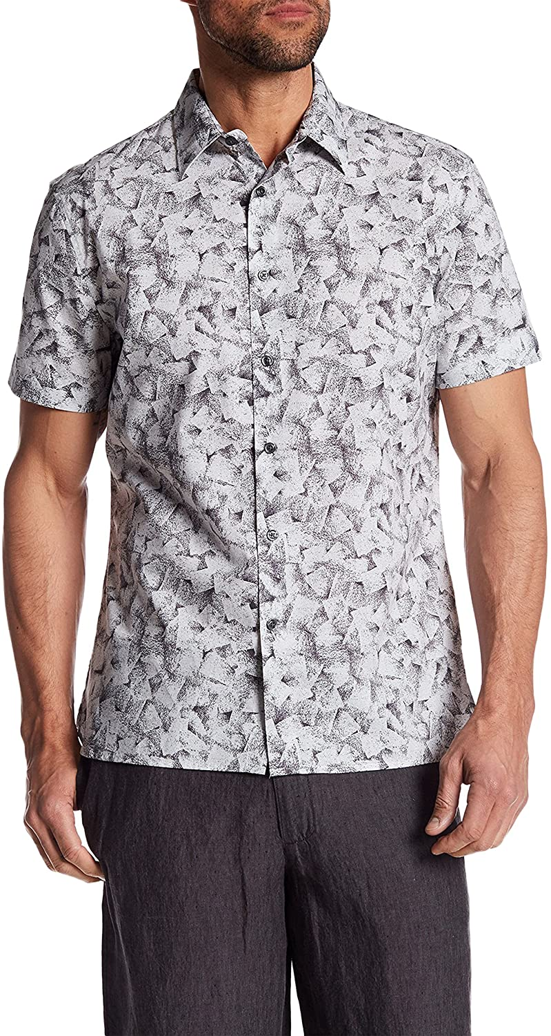 Perry Ellis Short Sleeve Stucco Print Regular Fit Shirt 4CSW7045PS