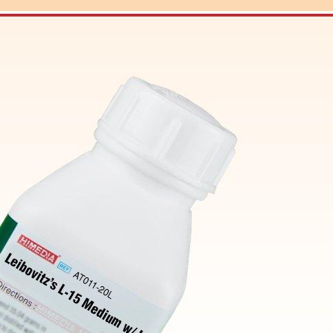 HiMedia AT011-20L Leibovitz's L-15 Medium with L-Glutamine Without Sodium Bicarbonate, 20 L
