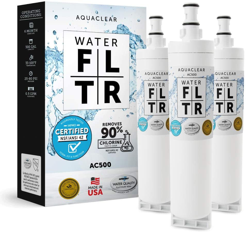 Aqua Clear 500 Replacement Filter for 4396508 Filters. Easy Installation - Long-Lasting - Cleaner, Healthier, Better Tasting Water 6 Month Filter Made in the USA. (Case of 3)