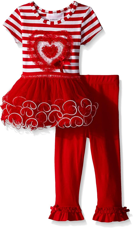 Bonnie Baby Baby Girls Heart Applique Tutu Playwear Set