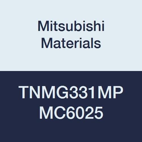 Mitsubishi Materials TNMG331MP MC6025 Carbide TN Type Negative Turning Insert with Hole, Coated, Triangular, Grade MC6025, 0.375
